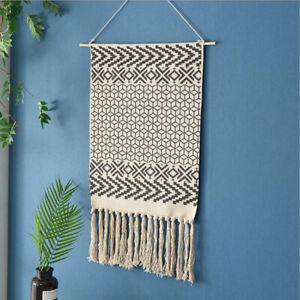 Home Knitting Tapestry Tassel Tapestry Bohemian 1Pc Office Wall Decoration LL