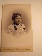 Gmunden - 1899 - Cäcilie Berndl als junge Frau - Portrait / CDV