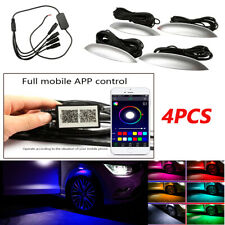 4Pcs Car Fender Wheel Eyebrow Pretty LED Music Phone App Control Ambient Light