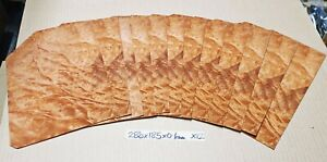 REAL WOOD VENEER 12 X QUILTED MADRONA BURL SHEETS CRAFT,FURNITURE,RESTORATION
