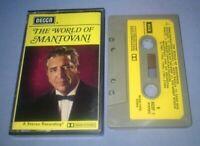 MANTOVANI THE WORLD OF MANTOVANI PAPER LABELS cassette tape album T5928