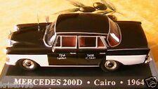 MERCEDES BENZ 200D TAXI CAIRO EGYPTE 1964 1/43 LE CAIRE IXO ALTAYA EGYPTIA