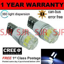 2x W5w T10 501 Canbus Error Free Blanco Smd Led sidelight bombillas Brillante sl103305