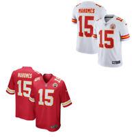 Men's Kansas City Chiefs #15 Patrick Mahomes White/Red Jersey Stitched