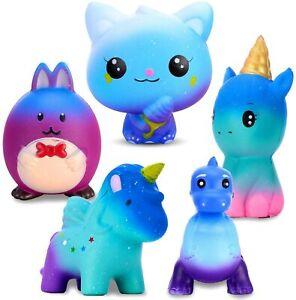 5Stk Squishy Spielzeug Set Kawaii Party Geschenke langsame Rising spielzeug DE
