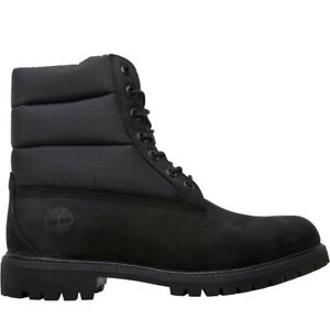 """TIMBERLAND PREMIUM 6"""" BLACK QUILTED PUFFER BOOTS MEN SHOES TB0A1UWK"""