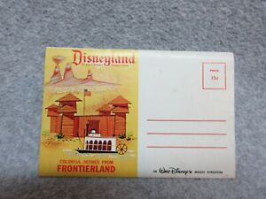Early 1960's Disneyland FRONTIERLAND  POSTCARD BOOKLET 12 Views Unused Perfect