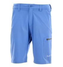 "Huk Men's Next Level Shorts Fishing 3 Zippered Pocket 10.5"" Short Blue XXL"