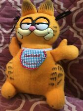 """Doll 1983 Talking Garfield Cat Eyes Move When String is Pulled 10"""""""