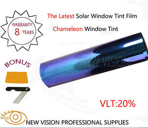 Heat Resistant Chameleom Tint Car Window Film VLT20% IR 95% 2Mil Color Change