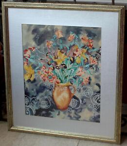 "Large Original  Tanya Short  ""Lillies""   Watercolour    GORGEOUS!"