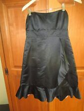 Ladies Nanette Lepore Black Silk Strapless Evening Cocktail Dress Size 8