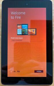 Amazon Fire Tablet (5th Gen) 8GB, Wi-Fi, 7in - Black, w/ Black Leather Case