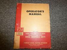 Detroit Diesel 3-71 4-71 6-71 Industrial Engines Owner Operator Manual Book