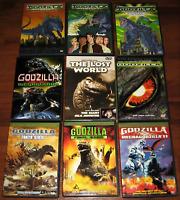 Lot of 9 ~ GODZILLA ~ 50th Anniversary Movies DVD MEGAGUIRUS Final Wars + Bonus!