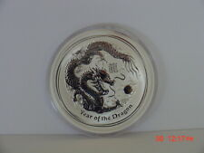 2012-P AUSTRALIA $2 LUNAR YEAR OF THE DRAGON 2 OZ SILVER IN MINT CAPSULE SEE DES