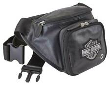 Harley-Davidson Genuine Grain Leather Bar & Shield Logo Belt Bag - Black 99506