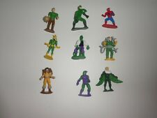 "9 SPIDERMAN  ACTION   FIGURES  - CAKE TOPPERS  2.5"" TALL"