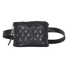 Women Black Leather Belt Waist Bag Sling Bum Pouch Travel Security Fanny Pack