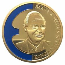 A332) Farbauflage Medaille Konstantinos Simitis Griechenland 1998 Europa