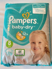 Pampers Baby Dry Size 8 Pack of 25 Diapers All New Size Imported Pampers 8
