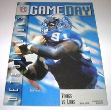 1997 MINNESOTA VIKINGS vs DETROIT LIONS NFL PROGRAM in Excellent Condition