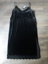 M&S collection velvet lace midi dress gr8 look with biker jacket 12 14