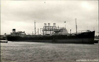 Schiffsfoto-AK Ship Real Photo ~1952 Marine Seefahrt Frachtschiff Dinglebale