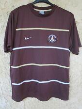 Maillot PSG PARIS SAINT-GERMAIN NIKE training shirt marron chocolat trikot L