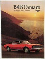 1968 Chevrolet Camaro Dealer Sales Brochure Hugger SS RS 396 Options Features GM