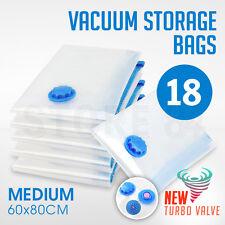 18 x Vacuum Storage Bags - MEDIUM 60x80cm - Space Saving - BULK Buy Saver