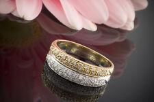 Schmuck Doppelring Bicolor Ring 0,46 Carat Brillanten 750er Weißgold & Gelbgold