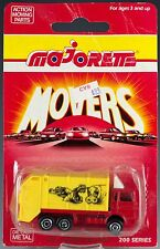 Majorette Die Cast #247 Benne Ordure Refuse Garbage Truck Red/Yellow MOC