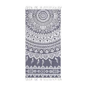Paisley Beach Towel 100% Cotton 39 x 70 Large Soft Bath Towel by Hencely