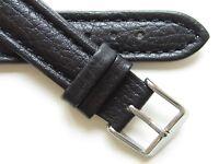Black buffalo print quality leather watch band *Swiss Quality*