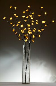 Cherry Blossom Amber Twig Branch Light, Warm LED Lights with Plug-in Power