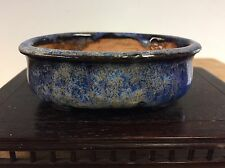 Shohin Size Bonsai Tree Pot Made By Shuho, Super Dynamic Glaze. 3 3/4""