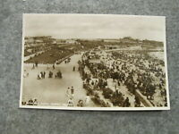 Real photo postcard - busy scene Barry Island - South Wales