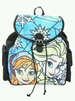 Disney Frozen. Stained Glass Slouch Backpack - Anna and Elsa - New