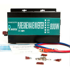 800W Car Power Inverter 24V DC to 120V AC 2 US outlets Pure Sine Wave off grid