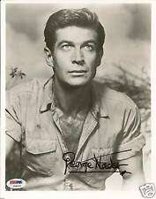 George Nader Signed Robot Monster 8x10 Photo PSA/DNA COA Autograph Picture
