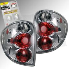 DODGE CARAVAN VOYAGER CLEAR CHROME TAIL LIGHTS + SUPER WHITE LICENSE PLATE BULBS