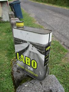 LABO avec DS Citroën : bidon huile ancien oil can tin