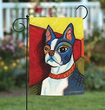 New Toland - Pawcasso Boston Terrier - Puppy Dog Portrait Garden Flag