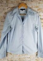 Jones Wear Essentials Sz 8 Womens Baby Blue Top Blouse Shirt Career