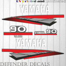 Yamaha 90 HP Two 2 Stroke outboard engine sticker decal kit reproduction 90HP