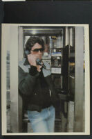 "Young Richard Gere in Phone Booth - Agfa - 8x10"" Photo Print - Vintage L1147L"