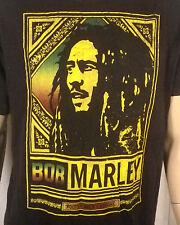 euc awesome logo Bob Marley Roots Rock Reggae T-Shirt punk weed head shop SZ XL