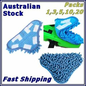 NEW Aftermarket H20 H2O StickOn CORAL BLUE Washable Cleaning (X5 Steam Mop) Pads