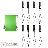 8pcs Background Support Clip Holder Muslin Clamp Screen Studio Backdrop Sta PF